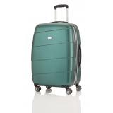 travelite-stripes-handbagage-trolley-spinner-groen